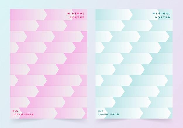 Titelblatt in pastellrosa und blau