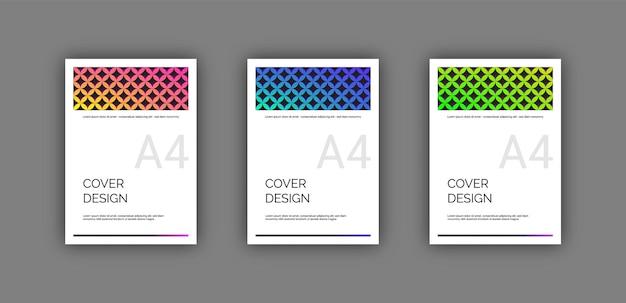 Titelseite mit vertikaler ausrichtung für das cover
