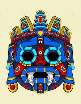 Tlaloc blaue maske