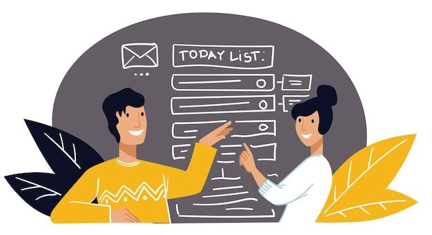 To do liste geschäftsplanung und strategievektor
