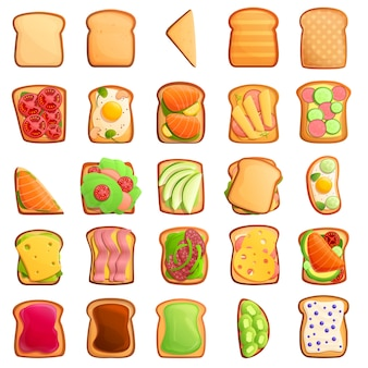 Toast icons set