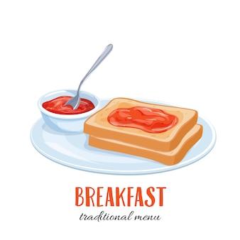 Toast mit marmelade