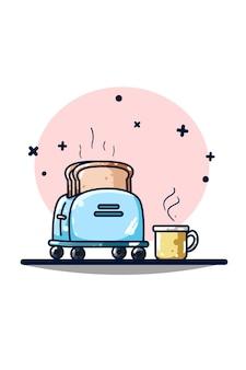 Toaster und kaffeemaschine