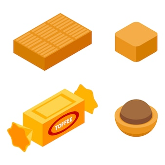 Toffee icons set