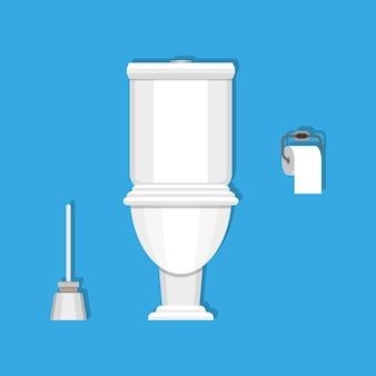 Toilette, papier und bürste