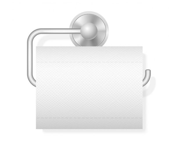 Toilettenpapier auf haltervektorillustration
