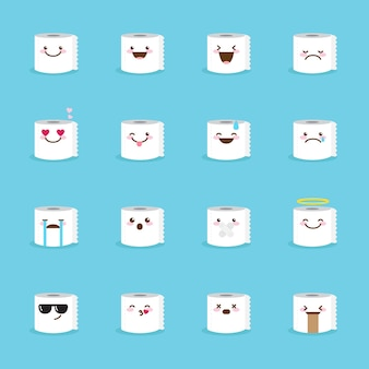 Toilettenpapier emoji-icon-set