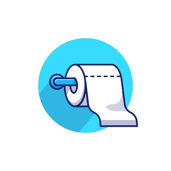 Toilettenpapier papierrolle symbol illustration.