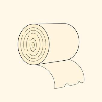 Toilettenpapier-vektor-illustration für t-shirt, etiketten, flyer und design.