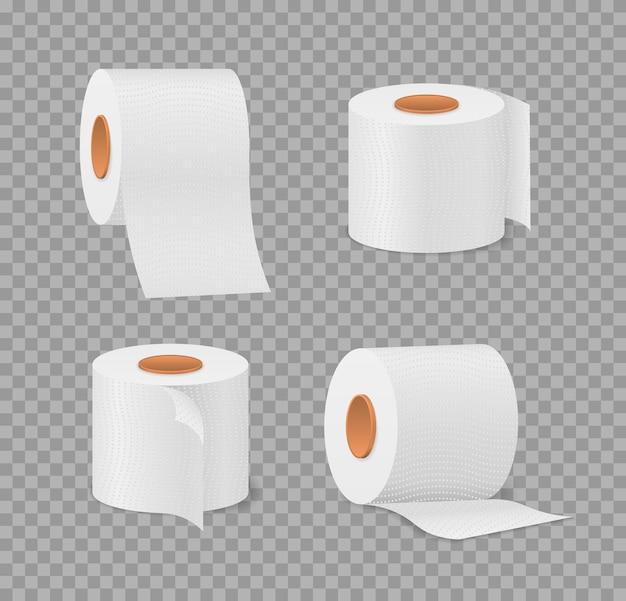 Toilettenpapierrolle für badezimmer- und toilettenillustration
