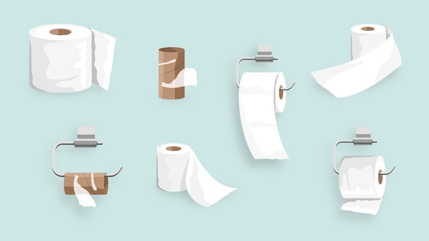 Toilettenpapierrollenset elementelement