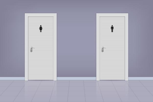 Toilettentüren für männer und frauen.