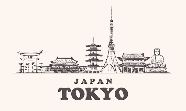 Tokio stadtbild, japan
