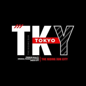 Tokio typografie für print t-shirt