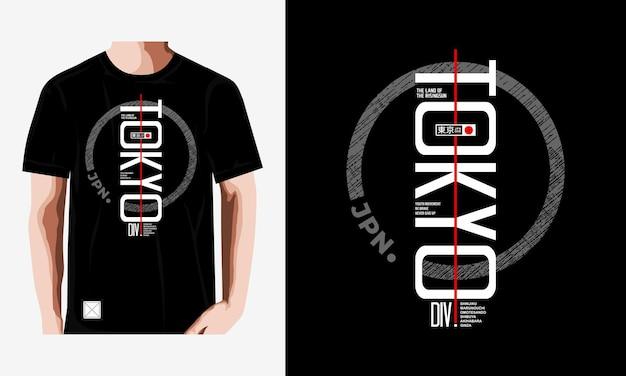 Tokio typografie t-shirt design premium-vektoren