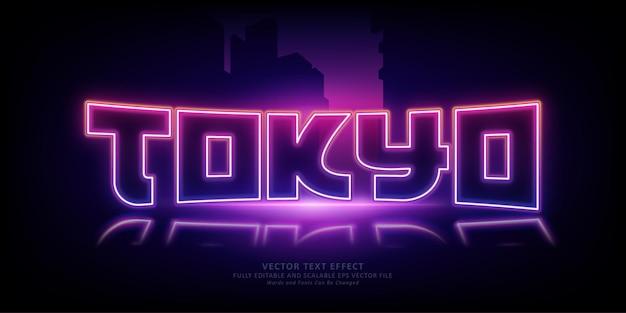 Tokyo neon glow bearbeitbarer texteffekt
