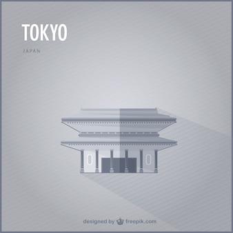 Tokyo vektor-wahrzeichen