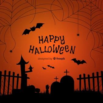 Toller spinnennetz-halloween-hintergrund