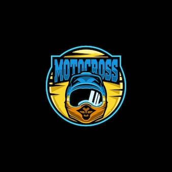 Tolles maskottchen motocross helm premium logo