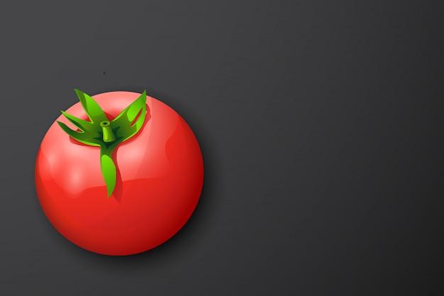 Tomate auf dunklem rücken