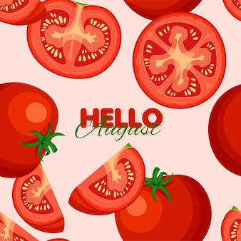 Tomate nahtloses muster sommer