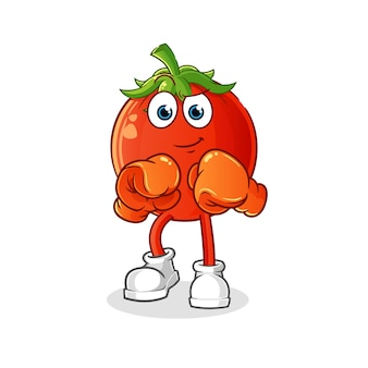 Tomaten maskottchen boxer