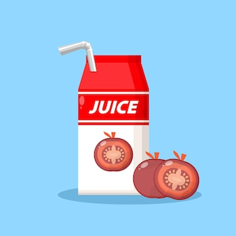 Tomatensaft-verpackungsbox-symbol-logo