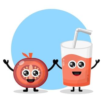 Tomatensaftglas süßes charakterlogo