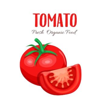 Tomatenscheibe.