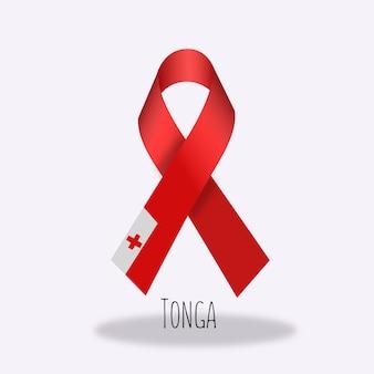 Tonga fahnenband design