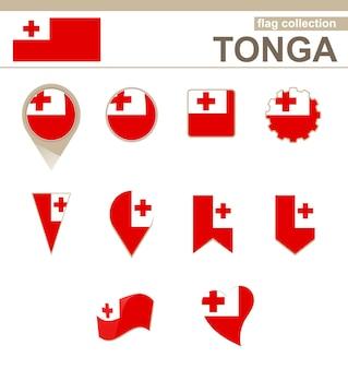 Tonga flag collection, 12 versionen