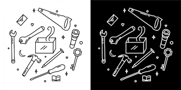 Tools-abzeichen-design