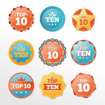 Top 10 etikettensammlung
