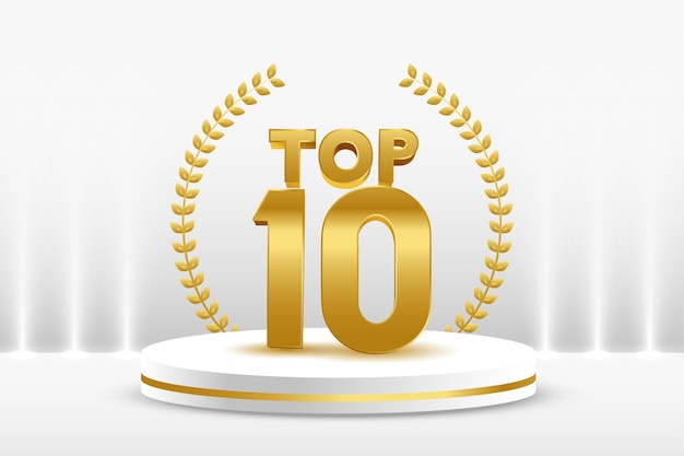 Top 10 goldene podiumsauszeichnung