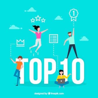 Top-10-wort-konzept