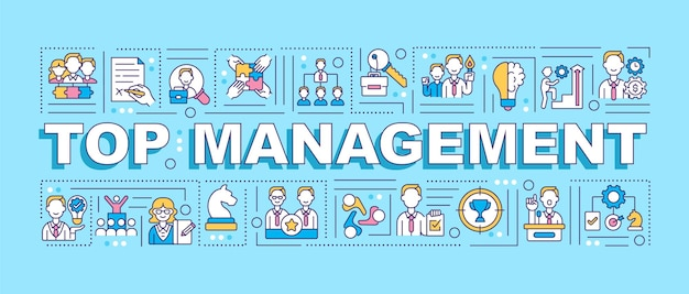 Top-management-wortkonzepte banner