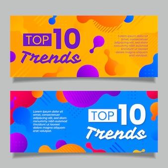 Top ten rating banner pack