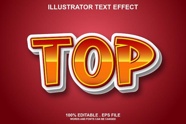 Top-texteffekt editierbar