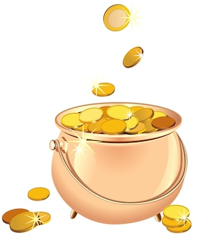 Topf mit münzen