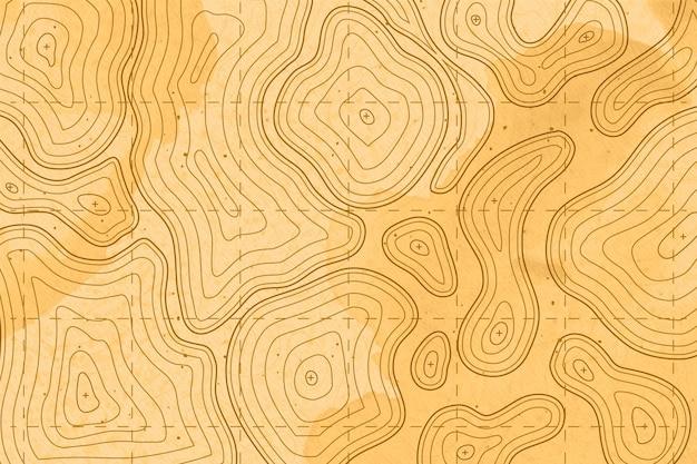 Topografische kartentapete