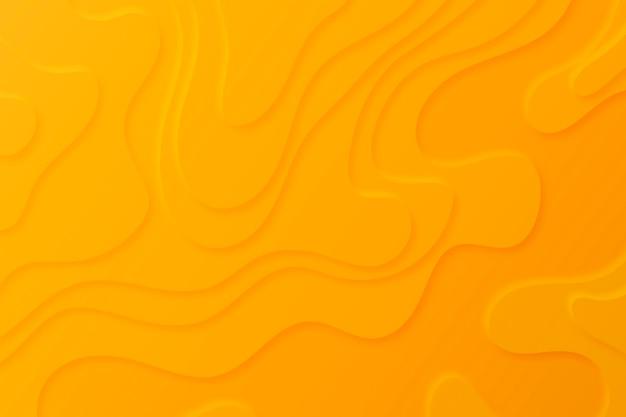 Topografischer kartenhintergrund mit orangefarbenen ebenen