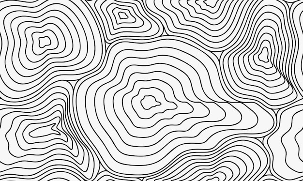 Topographische karte nahtloses muster im handgezeichneten stil