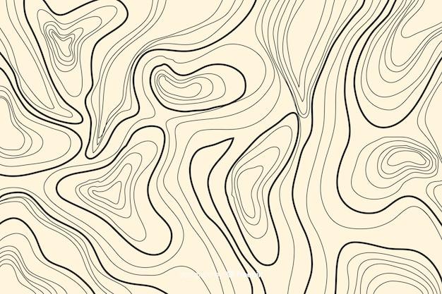 Topographische linien hintergrund auf lachsfarbtönen
