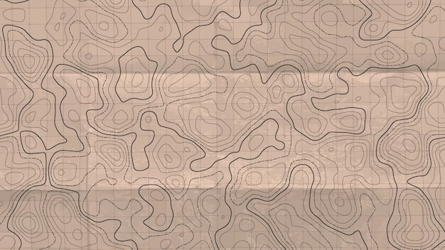 Topographische linienkarte.