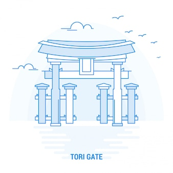 Tori gate blue wahrzeichen