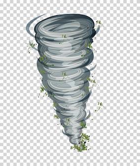 Tornado auf transparentem hintergrund