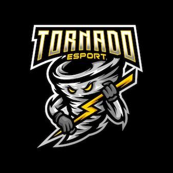 Tornado maskottchen logo esport gaming