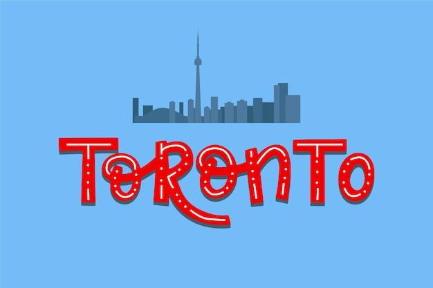Toronto stadt schriftzug