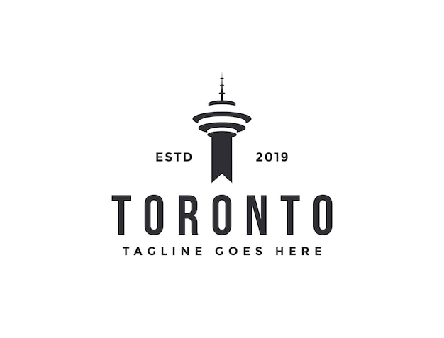 Toronto tower logo icon vektor vorlage auf weißem hintergrund