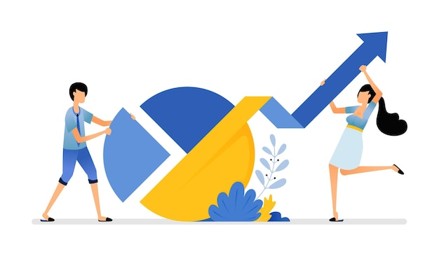 Tortendiagramm zur differenzierung infografik unternehmensverkaufsbericht zur steigerung von gewinn und anteil